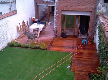 Création d'une terrasse en bois à Lille